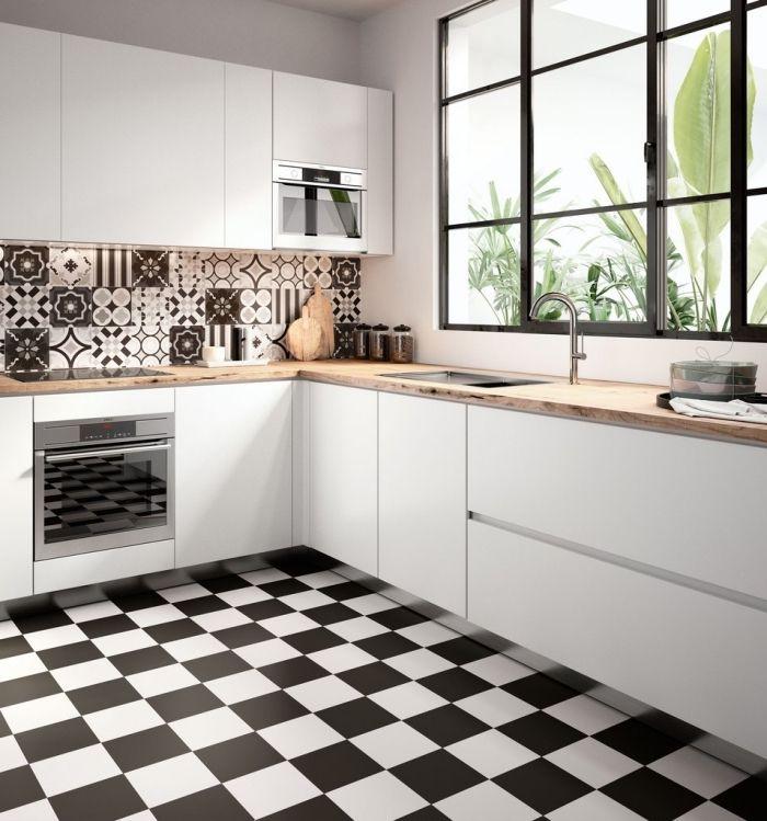 cuisine moderne carreau de ciment