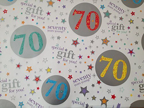 Gift Wrapping Paper 70th Birthday Gifts Butcher Wrap