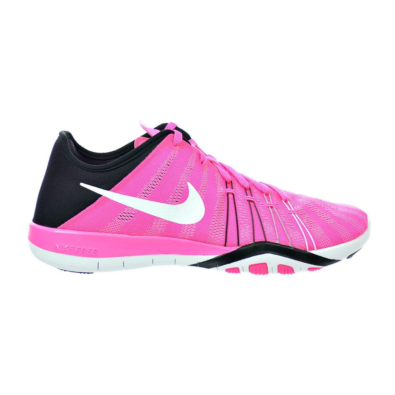5e63eaf658ab Nike Free Tr 6 Women S Shoes Pink Blast Black White Running Shoes 833413-