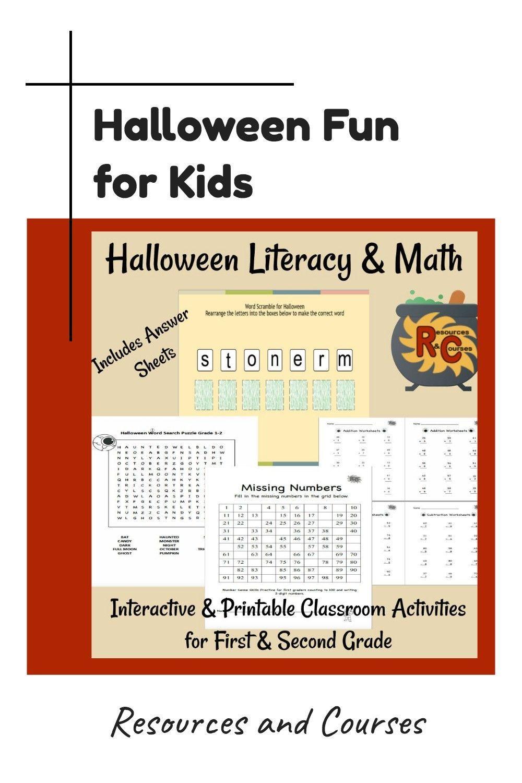 Halloween Fun For Kids Kids Math Worksheets Early Elementary Resources Halloween Teaching [ 1500 x 1000 Pixel ]