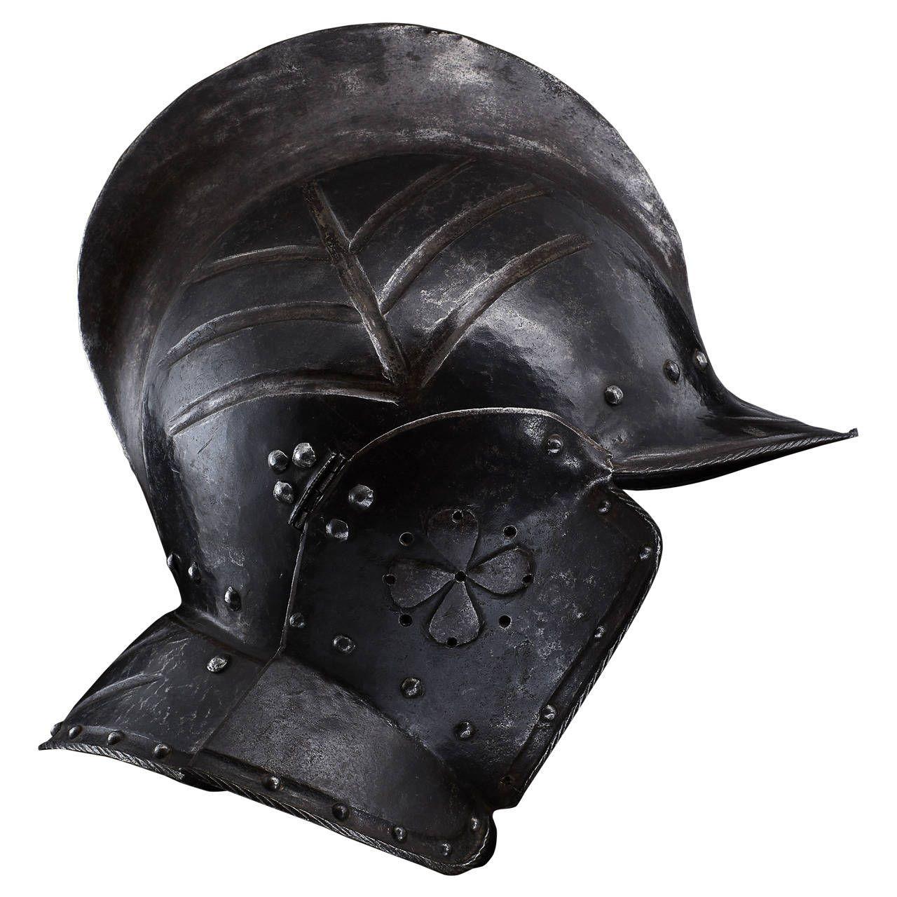 Elegant Burgonet Helmet Made For An Officer, Nuremberg