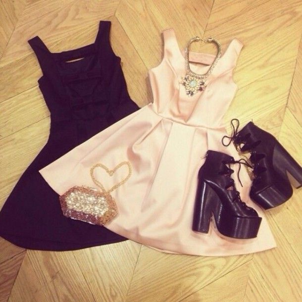 Dress: white dress, little black dress, puffy dress, cute dress, cute dresses, cool dress, cool dresses, shoes - Wheretoget