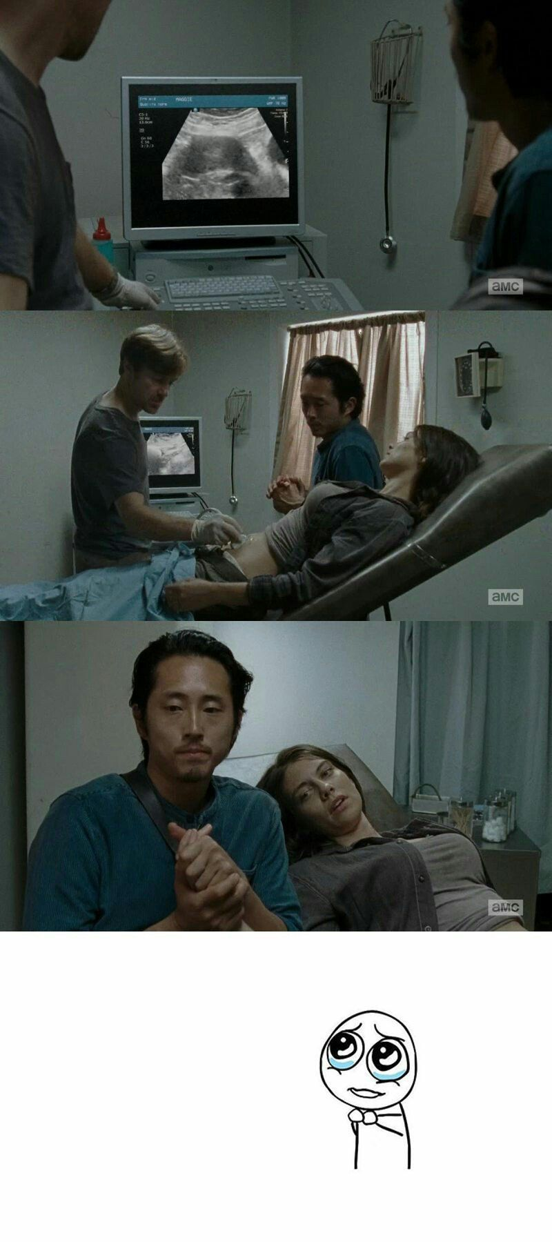 Maggie and Glenn and the little baby !!!! ❤️❤️❤️