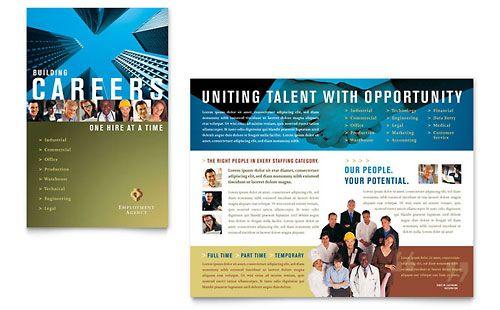 employment agency jobs fair brochure template design
