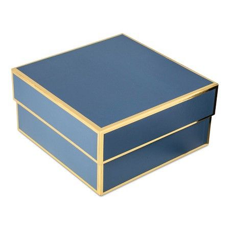 Sugar Paper Navy Square Gift Box Small Target To Buy