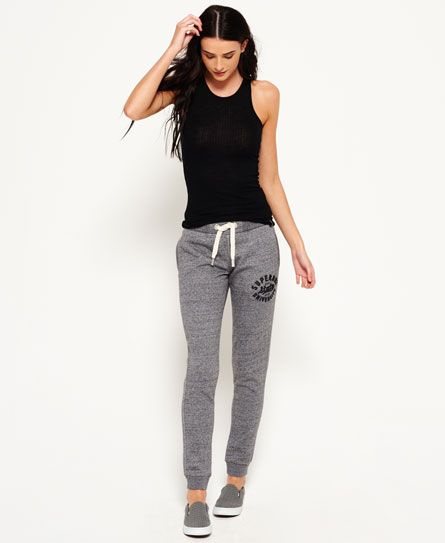 Superdry Navy Womens Eclipse Slim Fit Joggers In Joggers