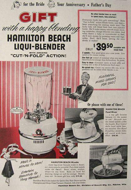 Vintage Hamilton Beach Liqui Blender Ad 1955 With Images