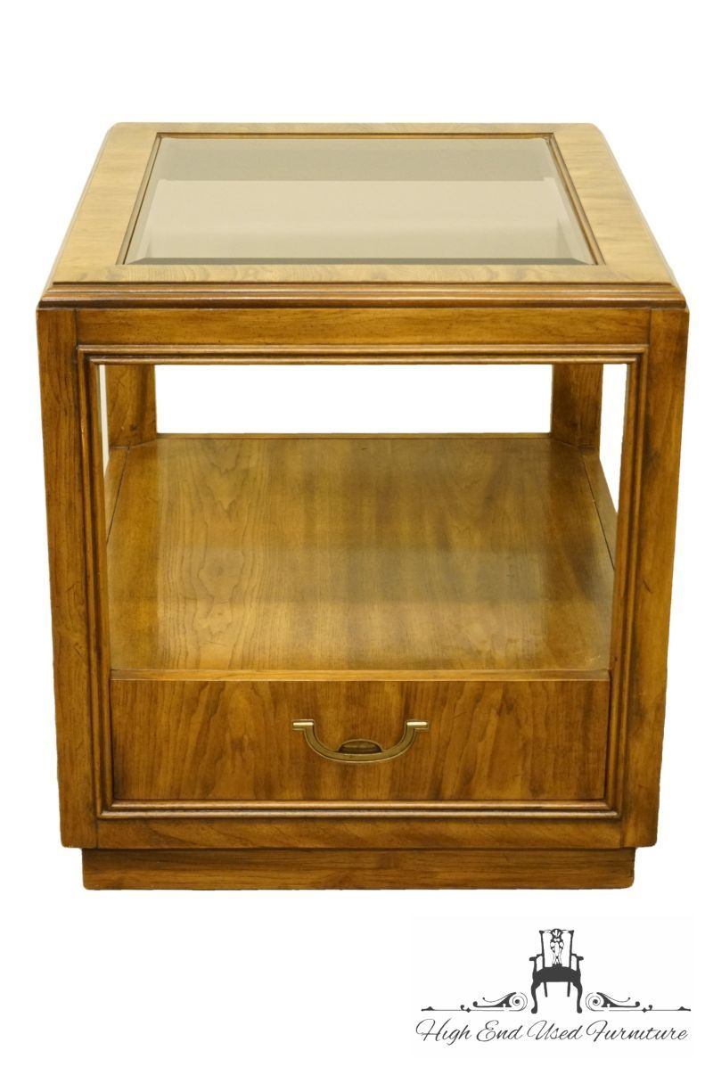 Drexel Heritage Accolade Collection 23x26 Accent End Table W Glass Top 984 330 3 In 2020 Drexel Heritage Drexel Heritage Furniture End Tables