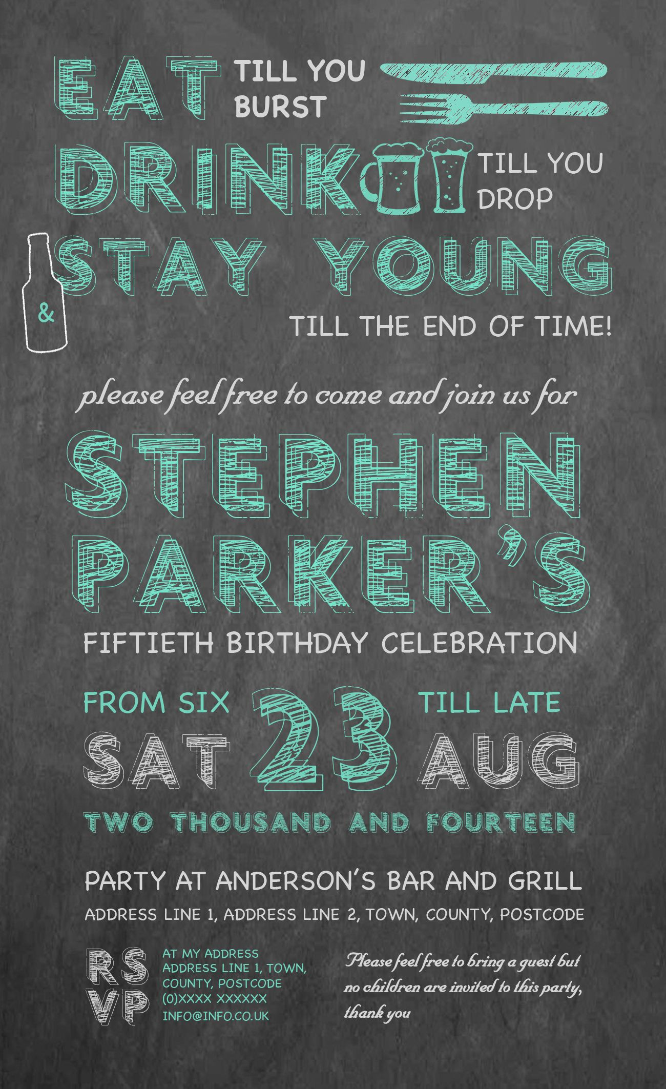 50th Birthday Invitation designed by me at Nic\'s Designs. | Craft ...