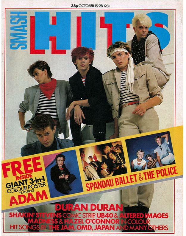 21 Vintage Covers Of Smash Hits Magazine Duran New Wave Music