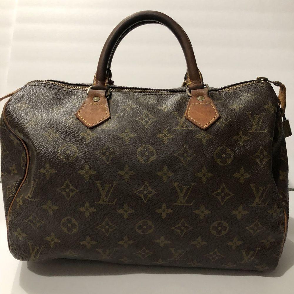 22d7e4ce6969 Louis Vuitton Monogram SPEEDY 30 SD0968 Authentic Handbag w  Lock No Key