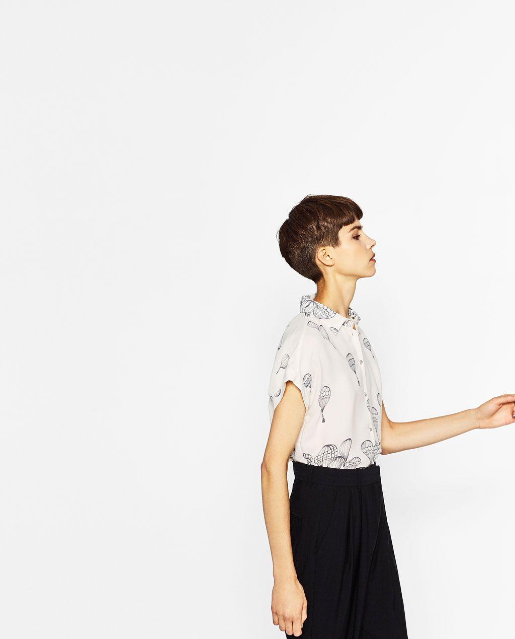 Afbeelding 4 van BLOUSE MET BALLONNEN van Zara