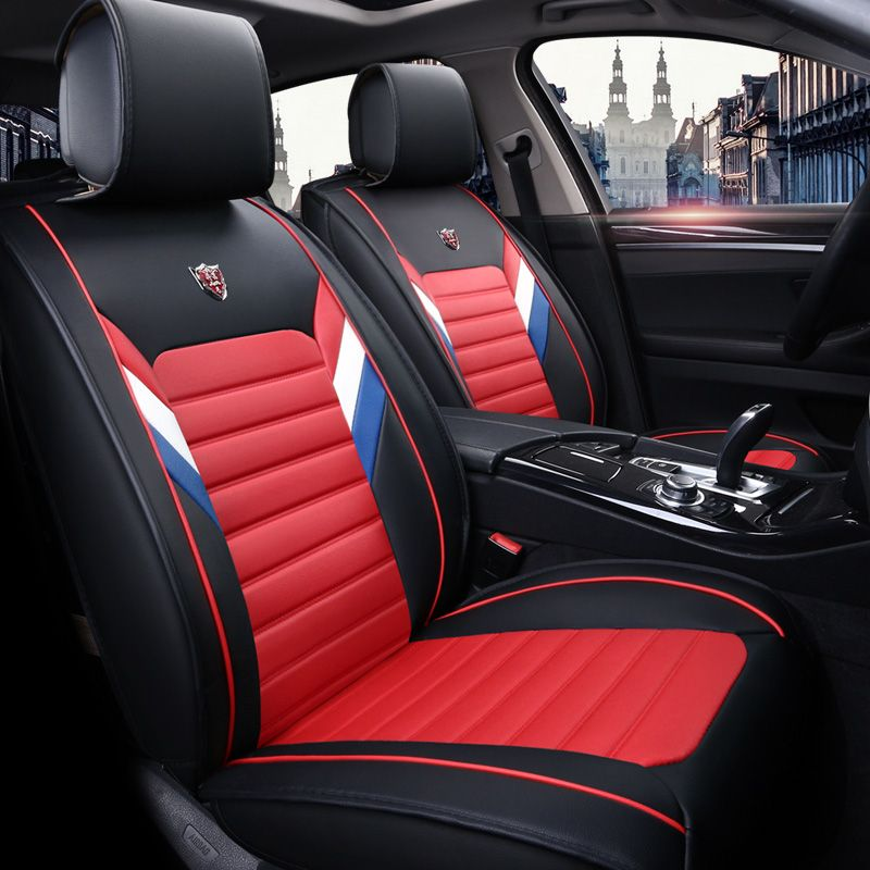 New Pu Leather Universal Car Seat Covers For Audi A4 A5 A6 Q5 Q7 2017 2016 2015 2014 2013 2012 2011 2010 2 Leather Car Seat Covers Car Seats Leather Car Seats