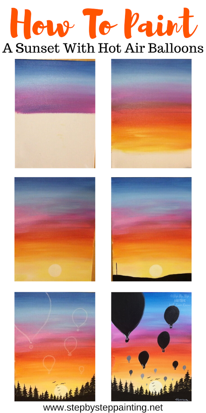 1001 Acrylic Painting Ideas To Fill Your Spare Time With Sunset Beginner Diy Canvas Art
