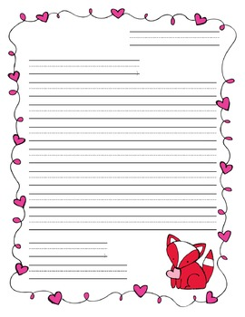 Valentine S Day Friendly Letter Template Friendly Letter Friendly Letter Template Lettering