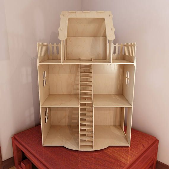 Dollhouse V2 Big Plywood Doll House 1 6 Scale Vector Model For Cnc