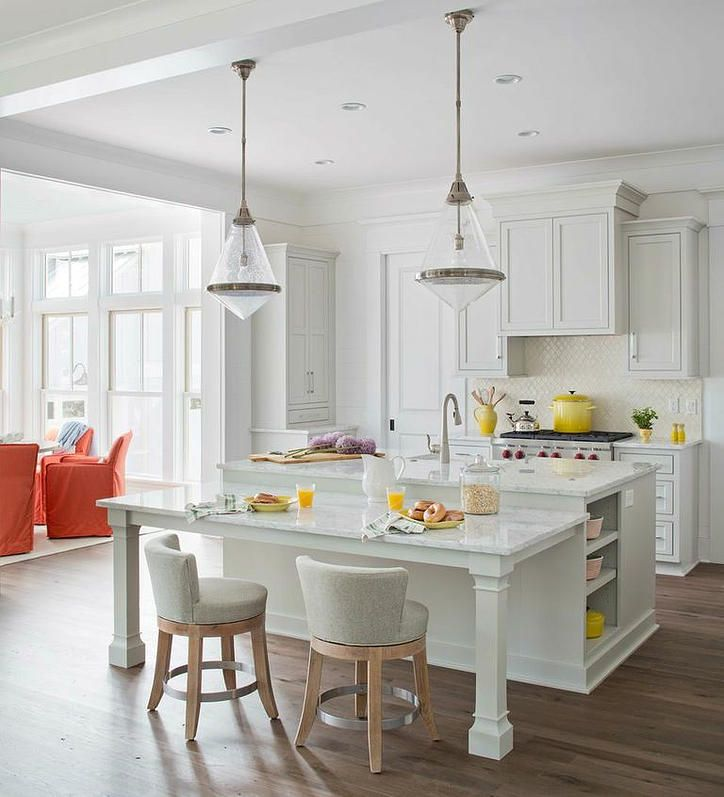 Kitchen Island With Table Seating: Tiered Island With Legs/stools