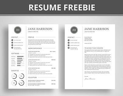 free modern matching cover letter and resume templates koni