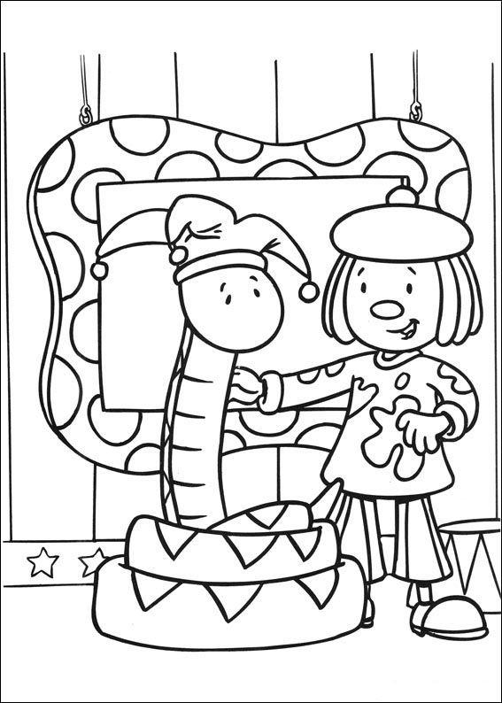 jojos zirkus 13 ausmalbilder für kinder. malvorlagen zum