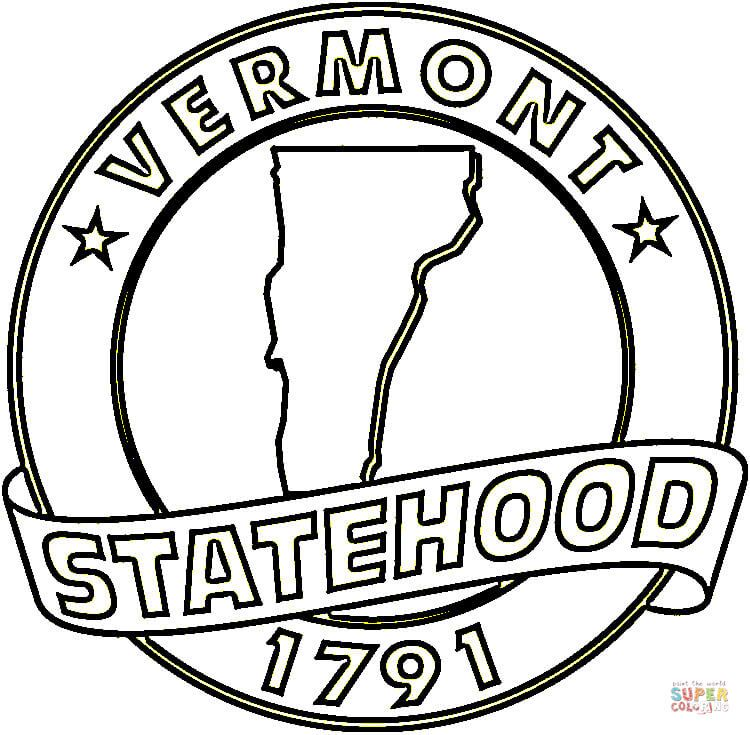 Click The Vermont Statehood Coloring Pages To View Printable