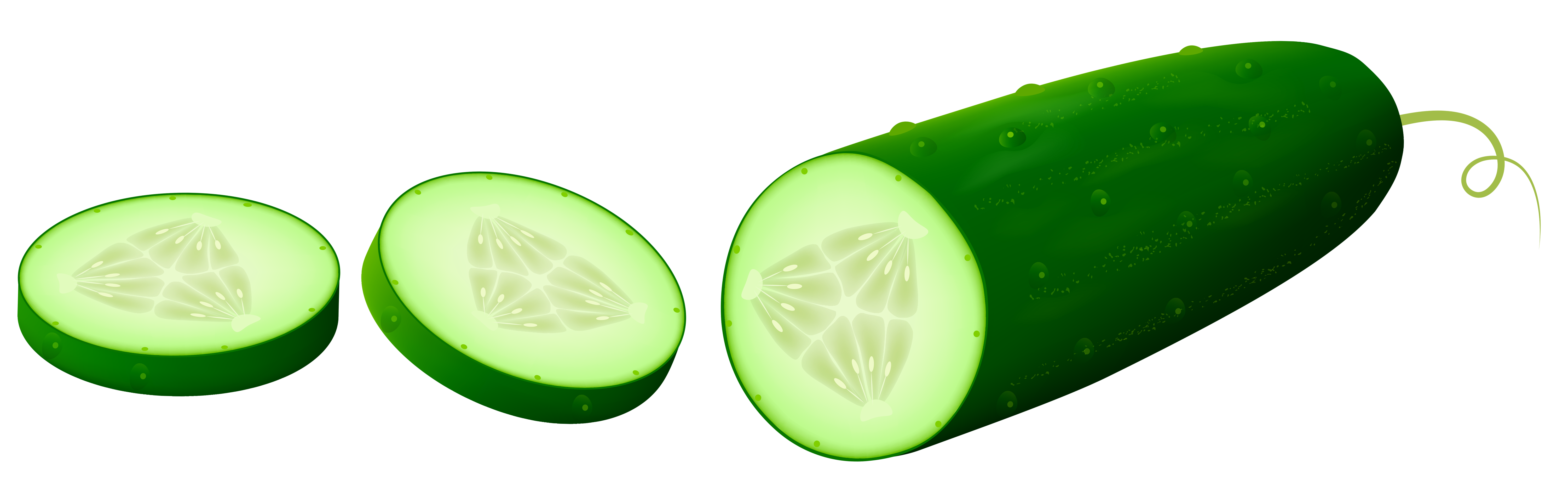 Transparent Sliced Cucamber PNG Clipart Picture