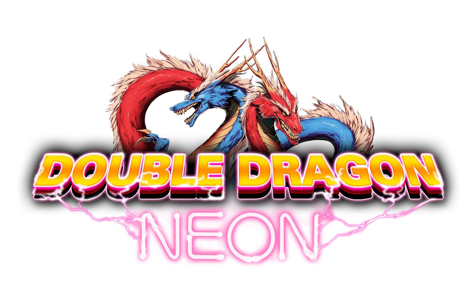 Double Dragon Neon Logo Double Dragon Neon Logo Game Logo