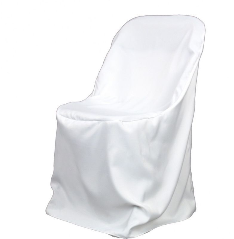 Stupendous 100 White Polyester Folding Chair Covers New Wedding In Machost Co Dining Chair Design Ideas Machostcouk