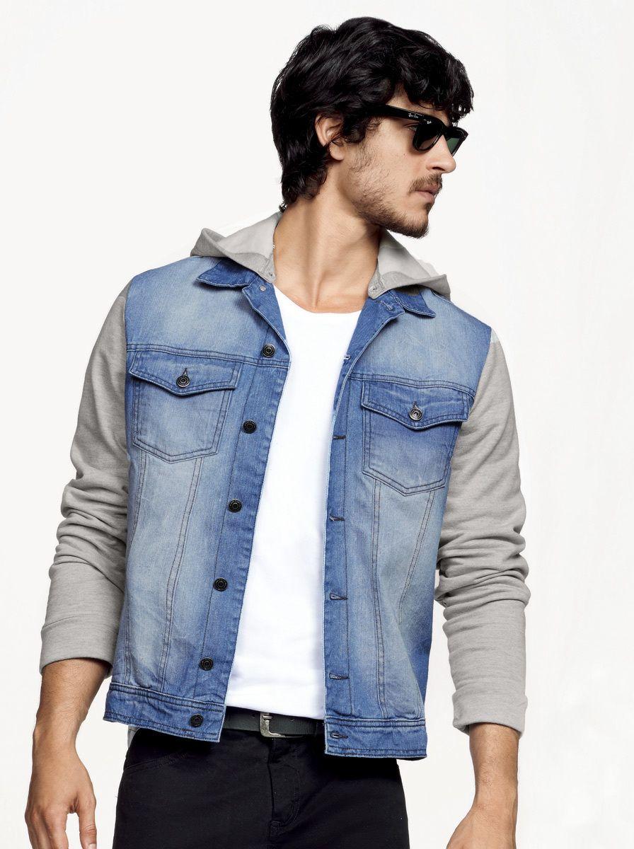 Jaqueta jeans masculina slim hering com capuz removível na Hering ... 5d3cf0123799a