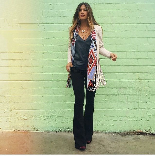37 Casual Boho Style for Winter Work Outfits #rainydayoutfitforwork