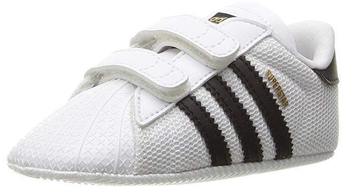 adidas Baby Superstar Crib Shoe, White/Black/White, 2K M US Infant ...