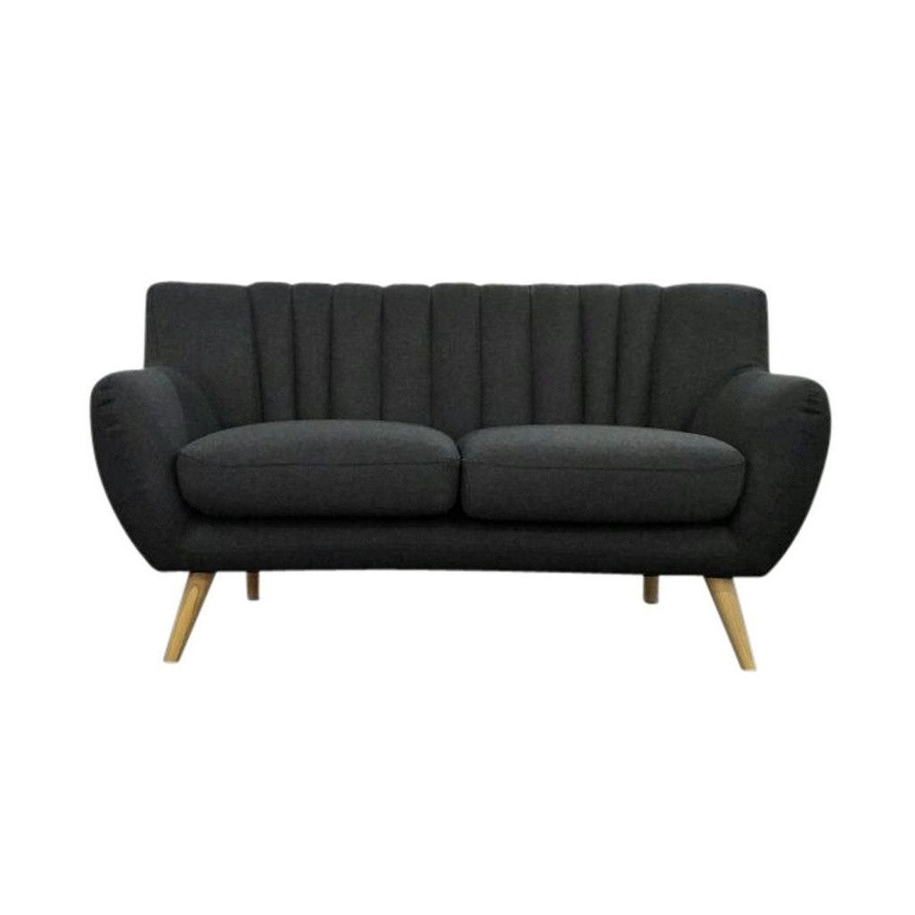 Lilly 2-Seater Sofa - Dark Grey | Modern, Mid-Century & Scandinavian | GFURN