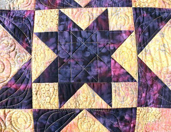 Detail Of Batiks Used In The Purple Daze Quilt Batik Quilt Patterns ...