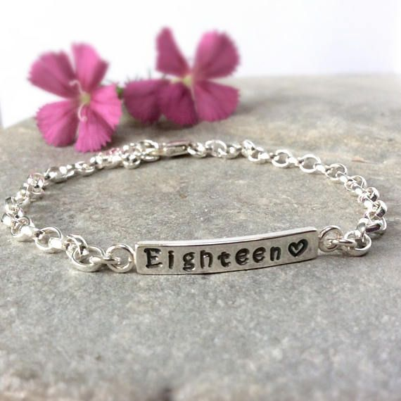 18th Birthday Gifts Silver Bracelet Handmade