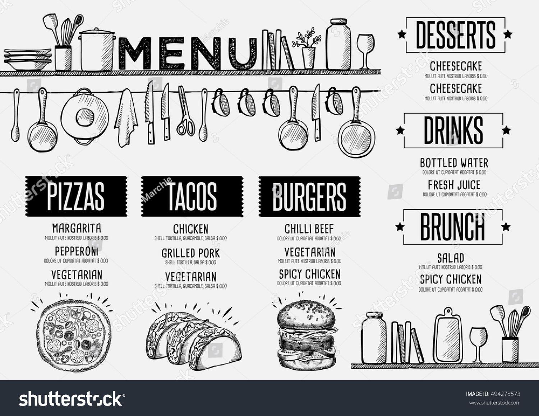 Pin by Chelle Buffington on cool idea | Pinterest | Cafe menu, Menu ...