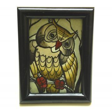 angered owl ACEO #zibbet #challenge #owl