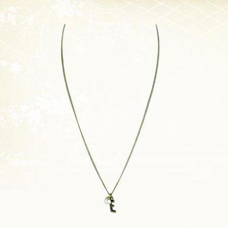 little letter necklace