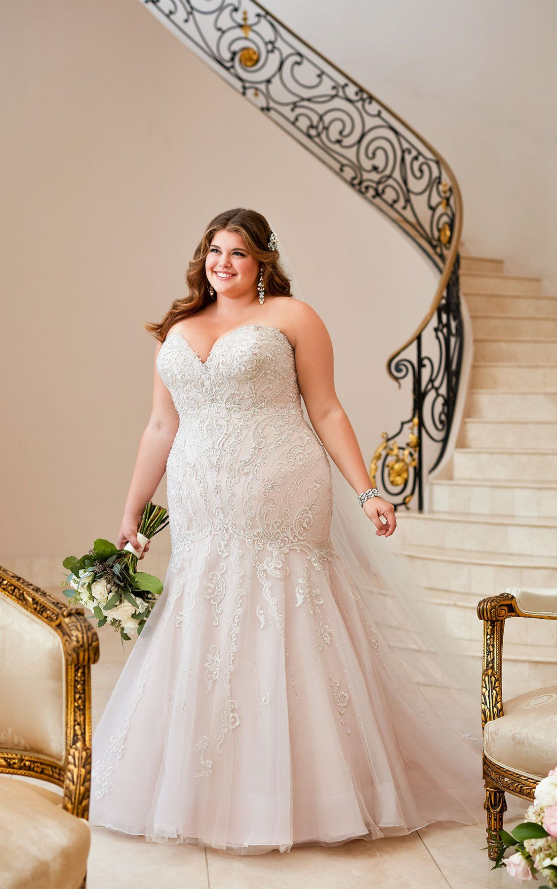 Mermaid Wedding Dress with Glamorous Lace Plus wedding