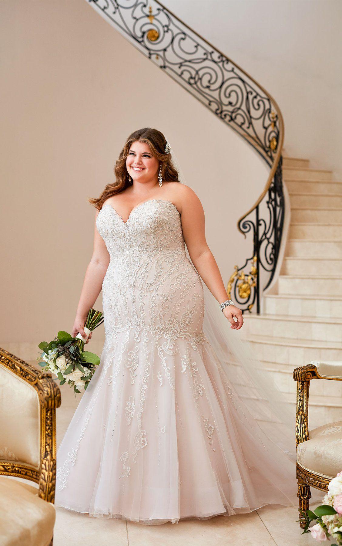 Mermaid Wedding Dress with Glamorous Lace Plus wedding