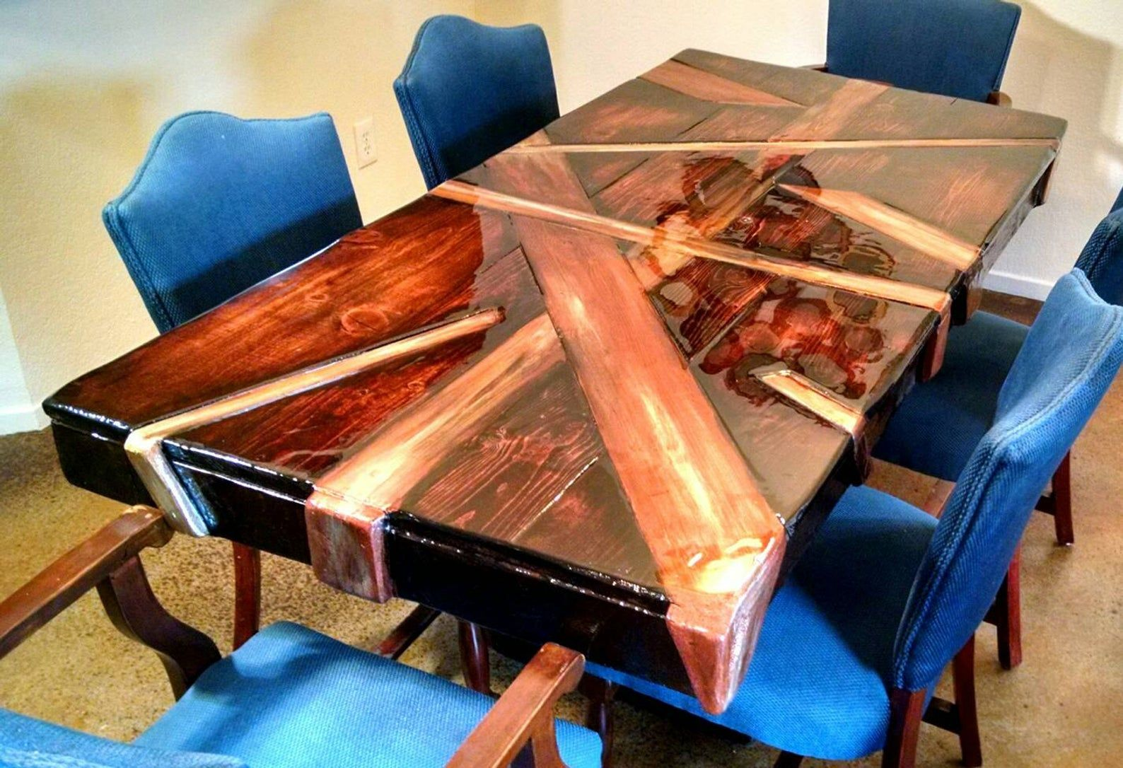 The Phenomenal Viking Abstract Warrior Madness Table I Can Etsy