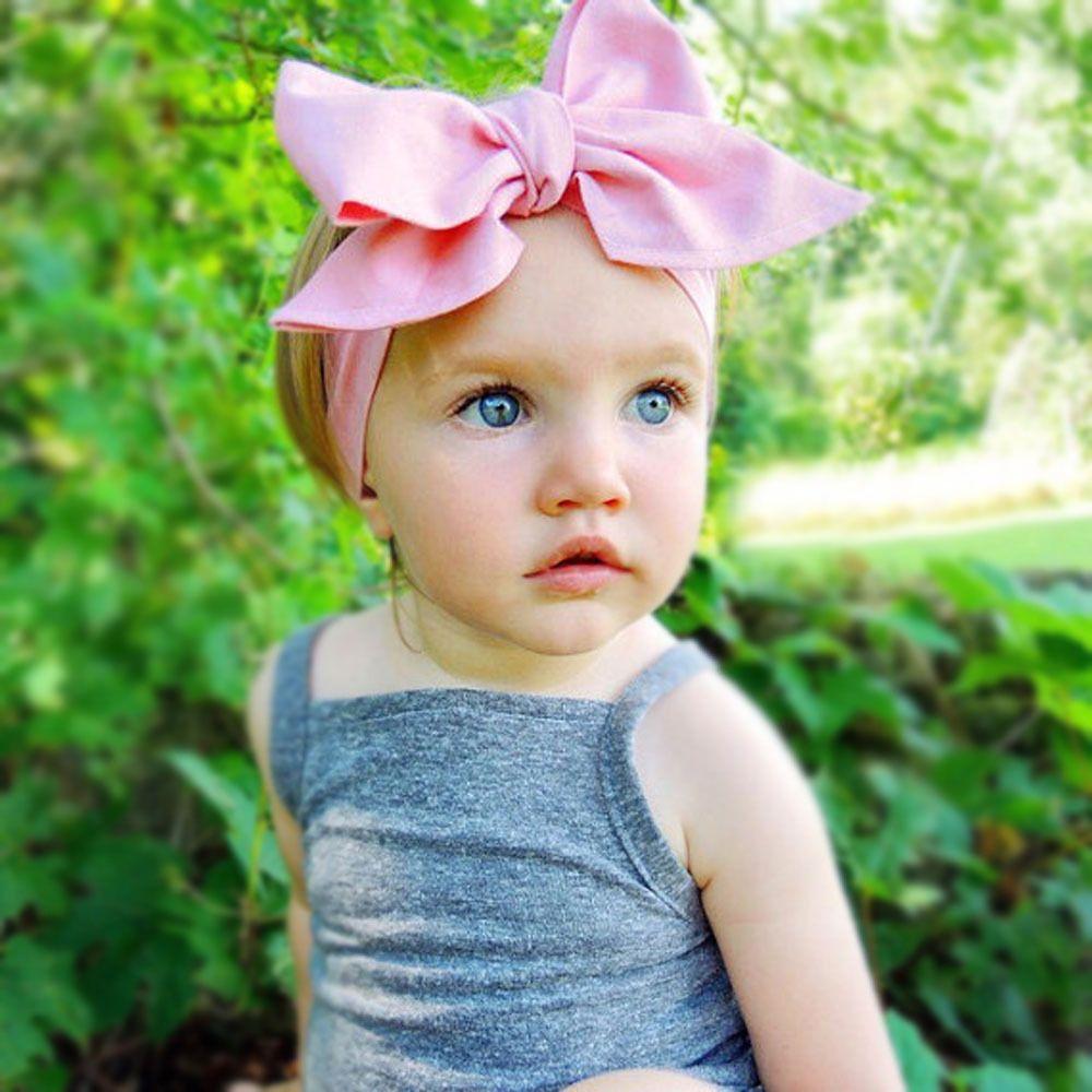 Toddler Birthday Dot Girls Fabric Bow Headband or Hair Clip Baby Girl