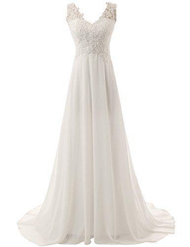 JAEDEN Elegant V-neck A-line Lace Chiffon Long Beach Wedding Dress, http://www.amazon.com/dp/B00XHI7ZZU/ref=cm_sw_r_pi_awdm_x_JiWWxbWBMD4ZQ