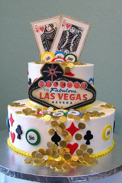 Las Vegas Birthday Cake Vegas birthday Birthday cakes and Vegas