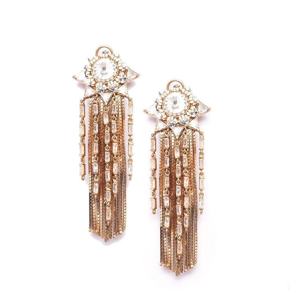 Antilia Tassle Earrings For more, visit bandbaajaa.com