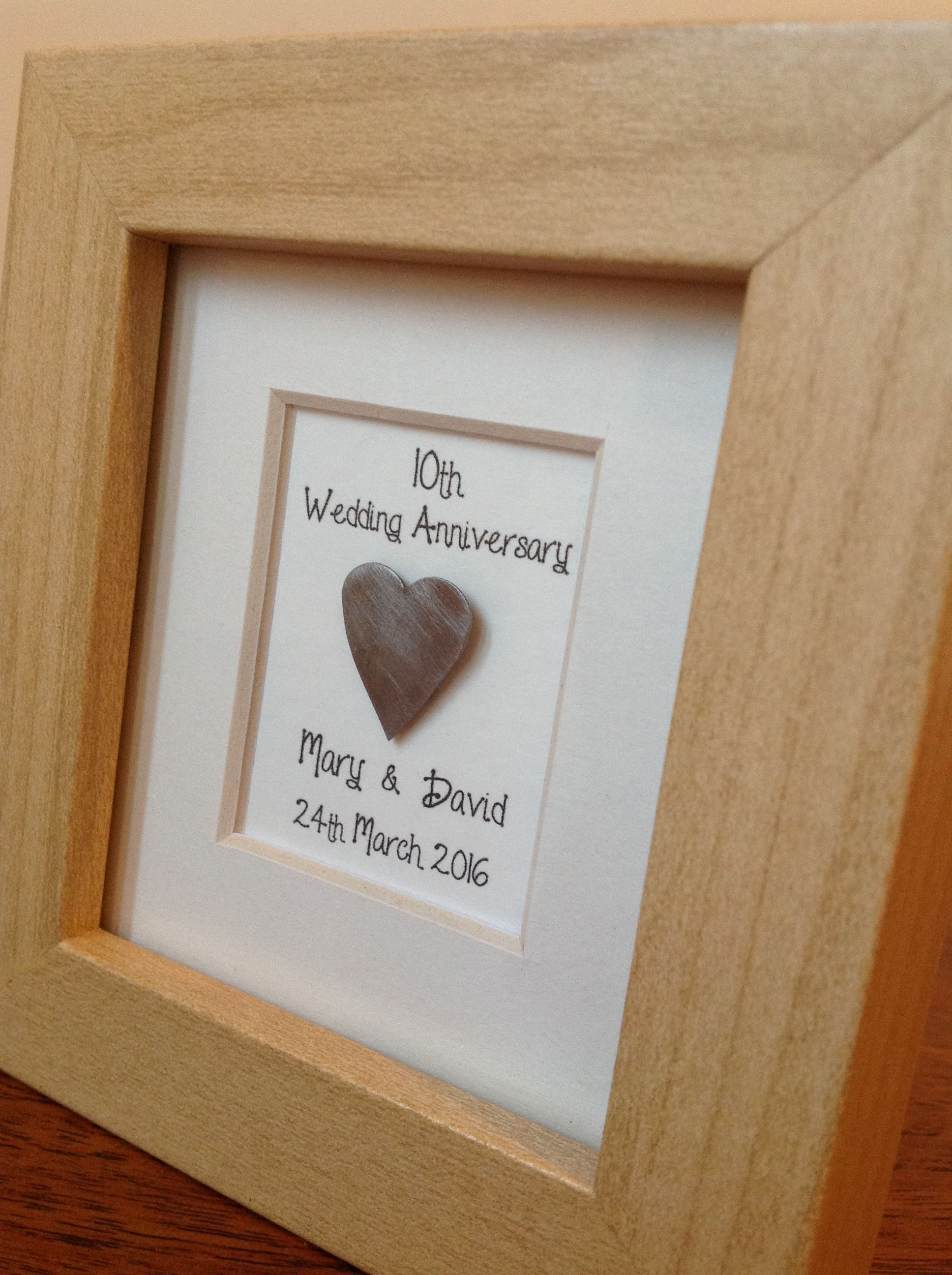 10th tin wedding anniversary gift