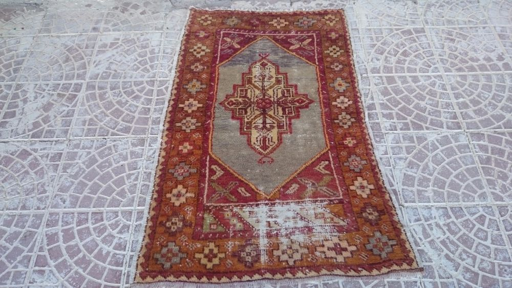 Vİntage Turkish Oushak Rug 51x32