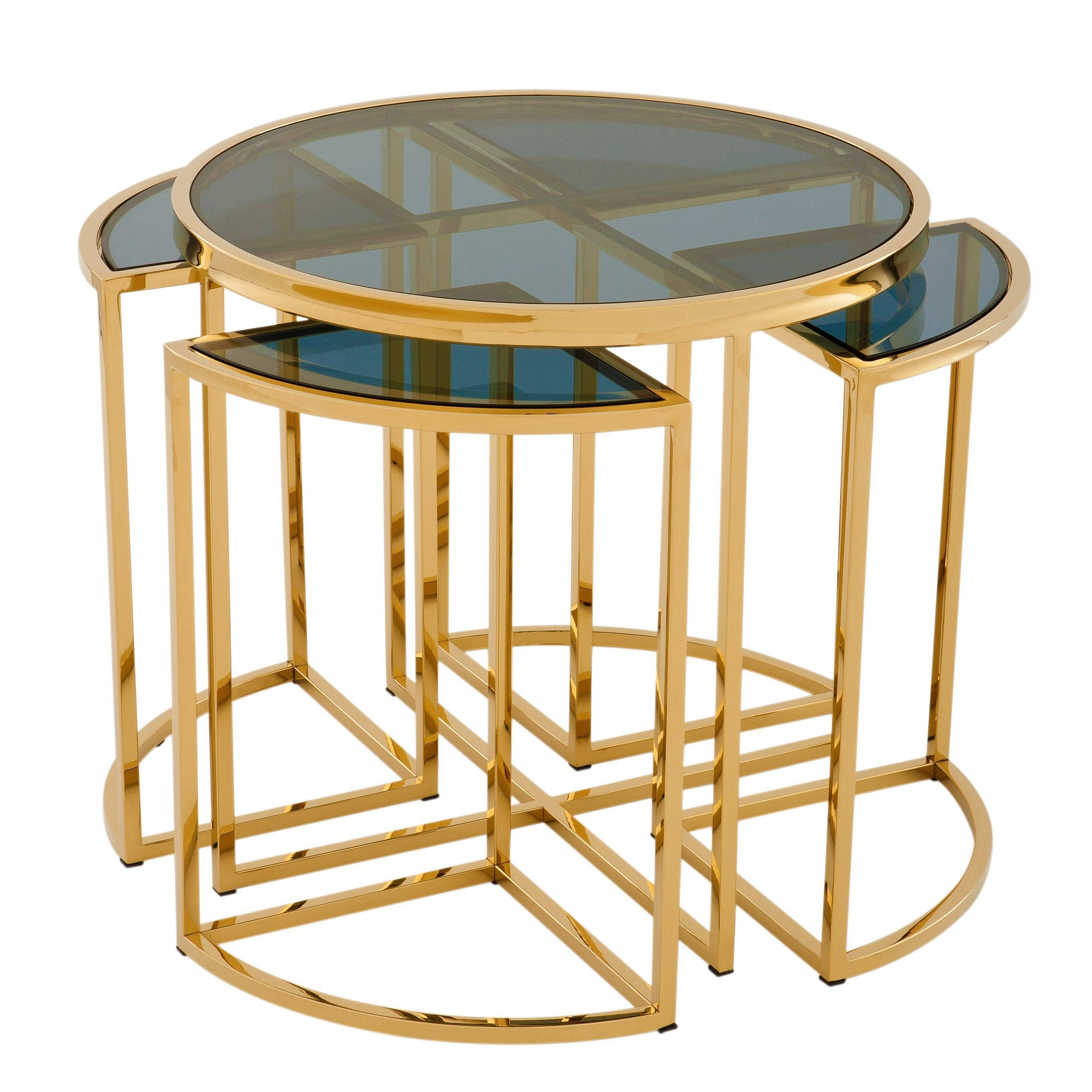 Gold Side Table Eichholtz Vicenza In 2021 Gold Side Table Side Table Glass Accent Tables