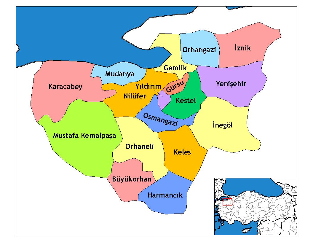Bursa Il Haritası Komşuları Googleda Ara Bursa 2019 Bursa