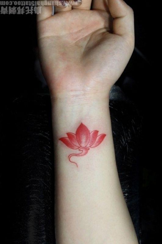 Realistic Lotus Flower Tattoo Lotus Flower Wrist Tattoo On Flower Wrist Tattoos Tattoos Flower Tattoo