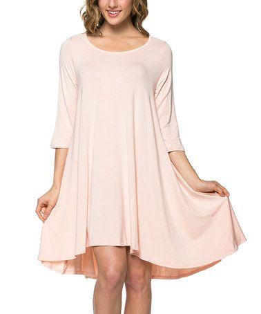 Peach Hi-Low Dress #zulily #zulilyfinds