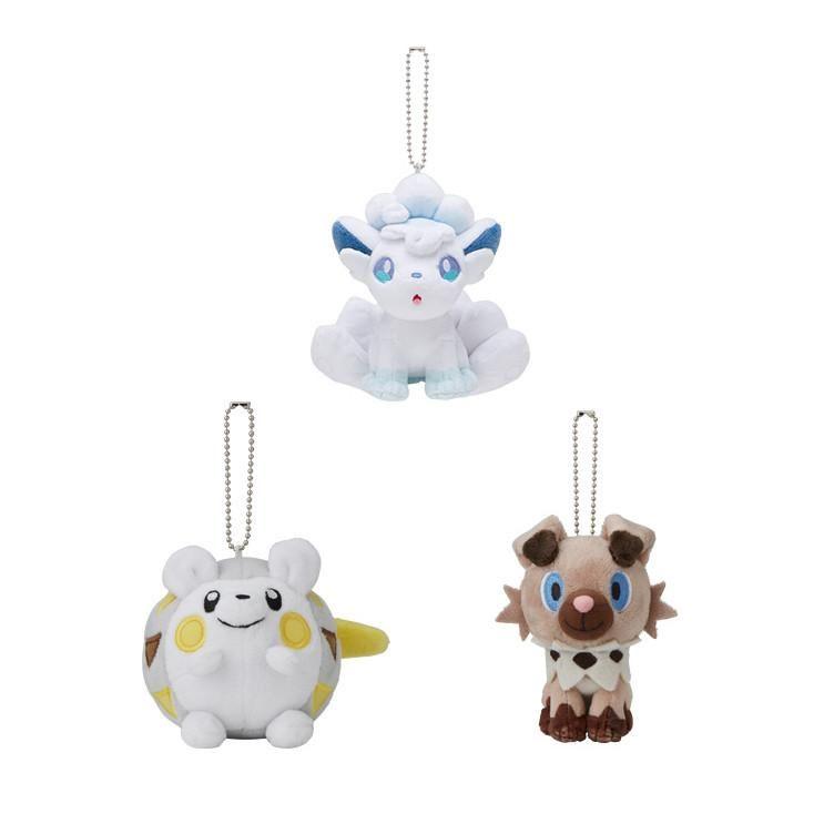 Pokemon Center Mascot Plush Alola Vulpix Rockruff Togedemaru